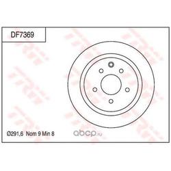 Тормозной диск (TRW/Lucas) DF7369