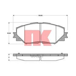 Комплект тормозных колодок, дисковый тормоз (Nk) 224595