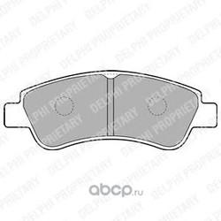 Колодки тормозные дисковые, комплект (Delphi) LP1727