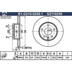 Тормозной диск (GALFER) B1G21002501