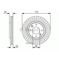 Тормозной диск (Bosch) 0986479R63