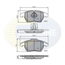 Комплект тормозных колодок, дисковый тормоз (Comline) CBP01308