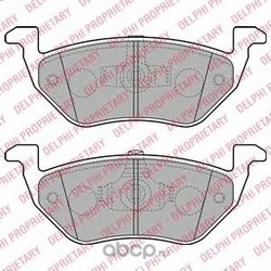 Комплект тормозных колодок, дисковый тормоз (Delphi) LP2158