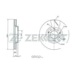 Диск торм. перед. Opel Astra F G H 98- Zafira A B 99- Meriva A B 03- (Zekkert) BS5247