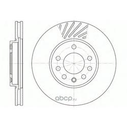 Тормозной диск (Remsa) 658410