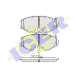 Комплект тормозных колодок, дисковый тормоз (Icer) 181568
