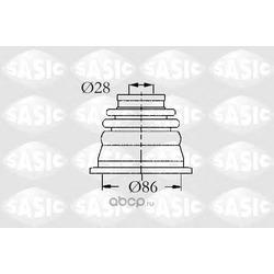 Ремкомплект пылника приводной вала левого внутрений (Sasic) 4003464