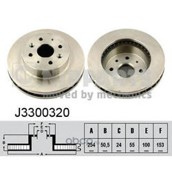 Тормозной диск (Nipparts) J3300320