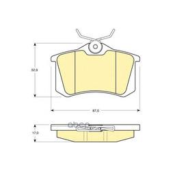 Комплект тормозных колодок, дисковый тормоз (Girling) 6113301