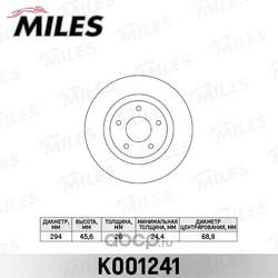 Диск тормозной MITSUBISHI ASX 10- передний вент. (Miles) K001241