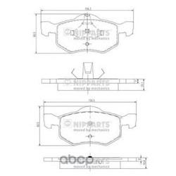 Комплект тормозных колодок, дисковый тормоз (Nipparts) J3603057