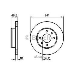 Диск тормозной вентилируемый (Bosch) 0986479286