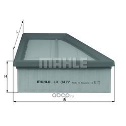 Воздушный фильтр (Mahle/Knecht) LX3477