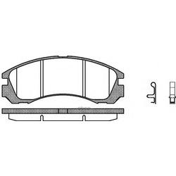 Комплект тормозных колодок, дисковый тормоз (Remsa) 035432