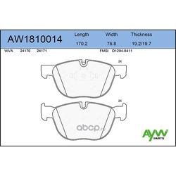 Колодки тормозные передние (AYWIparts) AW1810014