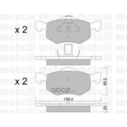 Комплект тормозных колодок, дисковый тормоз (Metelli) 2206090