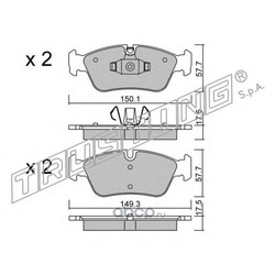 Комплект тормозных колодок, дисковый тормоз (Trusting) 6560