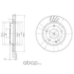 Тормозной диск (Delphi) BG3395