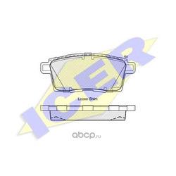 Колодки тормозные дисковые, комплект (Icer) 181963