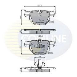 Комплект тормозных колодок, дисковый тормоз (Comline) CBP01671