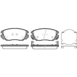 Комплект тормозных колодок, дисковый тормоз (Remsa) 138502