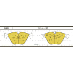 Колодки тормозные дисковые (Blitz) BB0259P