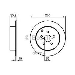 Диск тормозной задний Bosch (Bosch) 0986479242