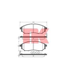 Комплект тормозных колодок, дисковый тормоз (Nk) 222261