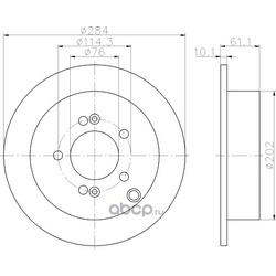 Тормозной диск (Hella) 8DD355111421