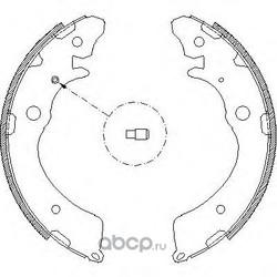 Комплект тормозных колодок (Remsa) 438300