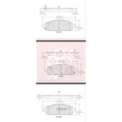 Дисковые тормозные колодки (Friction Master) CMX1180