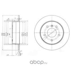 Тормозной диск (Delphi) BG3710