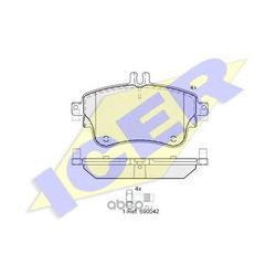 Колодки тормозные дисковые, комплект (Icer) 182062