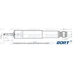 Амортизатор газомасляный задний (BORT) G11245256