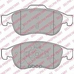 Комплект тормозных колодок, дисковый тормоз (Delphi) LP2152