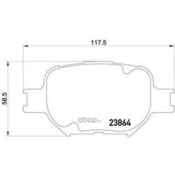 Комплект тормозных колодок, дисковый тормоз (Mintex) MDB2291