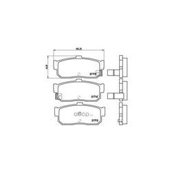 Комплект тормозных колодок, дисковый тормоз (Brembo) P56029