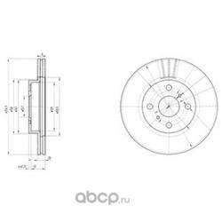 Комплект тормозных дисков AVANTECH (2шт. в одной упаковке) (Delphi) BG3520