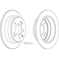 Тормозной диск (Ferodo) DDF1618
