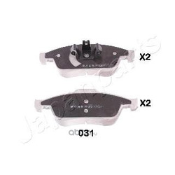 Комплект тормозных колодок (Japanparts) PA031AF
