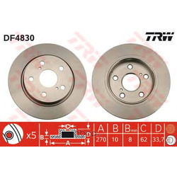Диск тормозной (TRW/Lucas) DF4830