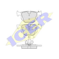 Колодки тормозные дисковые, комплект (Icer) 181739