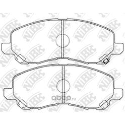 Колодки тормозные дисковые (NiBK) PN3469