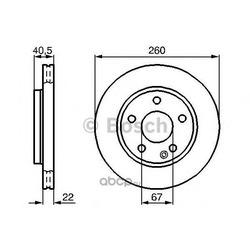 Тормозной диск (Bosch) 0986478875