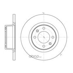 Тормозной диск (Remsa) 660500