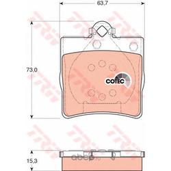 Комплект тормозных колодок, дисковый тормоз (TRW/Lucas) GDB1335