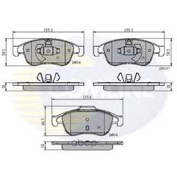 Комплект тормозных колодок, дисковый тормоз (Comline) CBP01677