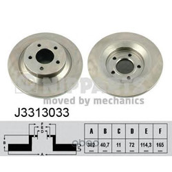 Тормозной диск (Nipparts) J3313033