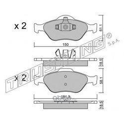 Комплект тормозных колодок, дисковый тормоз (Trusting) 3250