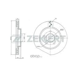 Тормозной диск (Zekkert) BS5023